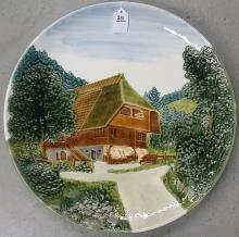 19th Century German Majolica Wall Plate