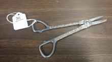 19th Century Silver Grape Shears
