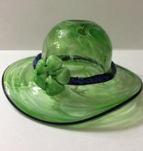Rare Stunning MURANO Art Glass Decorative Hat/Lare