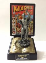 1940 HUMAN TORCH Golden Age Fine Pewter Figure