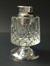 Large Mid-Century Heavy Lead Crystal Table Lighter