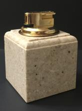 Large Mid-Century Heavy Marble Table Lighter