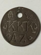 1936 KKK Arizona Klan Member Hammered Relic