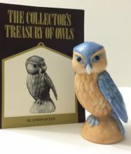 FRANKLIN MINT Porcelain Treasury of Owls w/COA