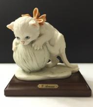Vintage Signed Giuseppe Armani Playful Cat Figurin