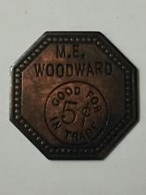 CIVIL WAR Victorious Confederate Trade Token