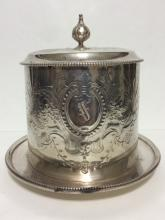 Antique Signed JAMES DIXON Silver Plate Ice Bucket