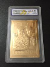 Lou Gehrig & Cal Ripken Jr 23kt Gold IRON MEN Card
