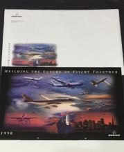 Lg Never Displayed 1198 BOEING Airplanes Calendar