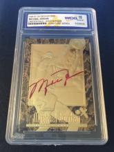 MICHAEL JORDAN 23kt Gold Signature Series Card