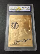 Rare MICKEY MANTLE 23kt Gold Gem 10 Baseball Card