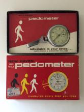 Vintage New Old Stock NEW HAVEN Pedometer w/Box