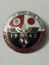 Date 1942 NAZI Germany/Japan Enameled Alliance Pin