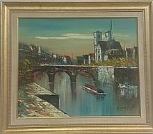 Attributed to Bernard Buffet Oil on Canvas