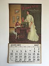 1897 DOMESTIC Sewing Machine Company Calendar