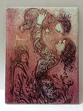 Rare Signed EDNA HIBEL Ceramic Tile Art w/COA