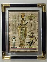 Authentic Hand Painted Egyptian Papyrus with COA