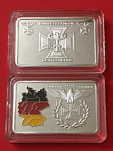 1oz/999 clad Silver German Territorial Bullion Bar