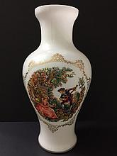 LG Early Hand Painted Victorian Bristol Glass Vase