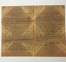 Antiqued ABRAHAM LINCOLN-GETTYSBURG ADDRESS
