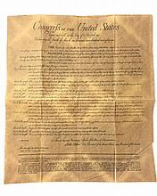 Antiqued 1789 United States BILL of RIGHTS