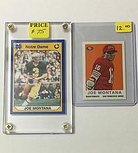 Rare JOE MONTANA Collegiate & Promo Football Cards