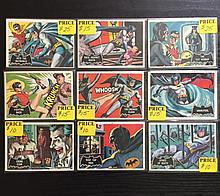 Lot of 9 - 1966 BATMAN Animated TV Series Cards