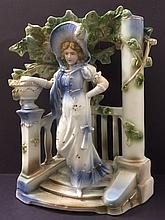 LG. Antique German Porcelain Figural Centerpiece
