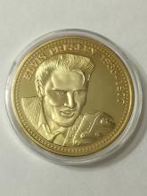 24k Gold clad ELVIS PRESLEY Encapsulated Coin