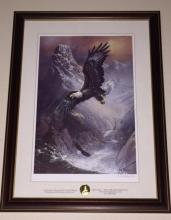 Rare Pencil Signed TED BLAYLOCK Eagle Art w/COA