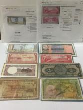 Lot of 8 Vintage Foreign Paper Currency/READ ON
