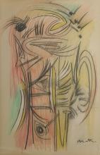 Pastel on Paper Signed Matta
