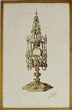 Rainha D. Amélia - original, aguarela sobre papel