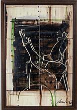 Bual - Original - Painel de 6 azulejos, assinado e