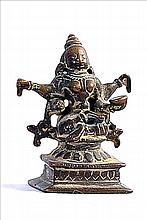 18TH CENTURY BRONZE SCULPTURE OF HINDU GODDESS/DEVI
