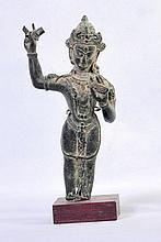 NICE OLD BRONZE TIBETAN STATUE OF BUDDHA AVALOKITESHVARA