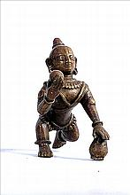 18TH CENTURY BRONZE SCULPTURE OF BAL KRISHNA