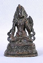 A NICE TIBETAN BRONZE STATUE OF BUDDHIST DEITY