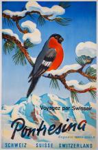 HERBERT LIBISZEWSKI Pontresina. Voyagez par Swissair