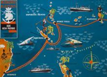 C.M. PERROT Messageries Maritimes - Ligne Océan Pacifique -