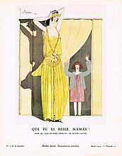 GEORGES LEPAPE Que tu es belle, maman ! - Robe du soir et robe d'enfant, de Jeanne Lanvin