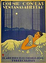 RIQUER Dormid con las ventanas abiertas - el aire puro es el enemigo de la tuberculosis
