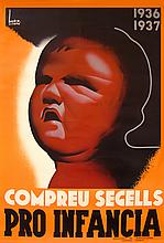 XAVIER BADIA Compreu segells pro infancia 1936-1937