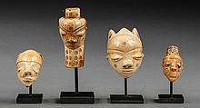 Pendentif d'initié Ikoko en ivoire ou os patiné par l'usage et le temps.