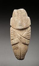 Importante idole anthropomorphe, elle présente un personnage