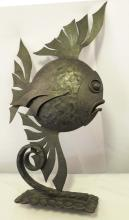 French Art Deco Wrought Iron Fish Grouping Paul Kiss Edgar Brandt
