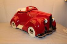 Glenn Appleman  Red Packard Convertible Auto Works Cookie jar 1979