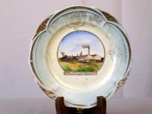 C 1900 Souvenir Plate from Gladding McBean California Pottery and Terra Cotta Factory Lincoln California Bauer Historical