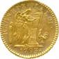 CONVENTION (21 septembre 1792 - 26 octobre 1795)  Louis d'or de 24 livres « au génie » signé Dupré, an II 1793  W = Lille. Monnaie rare (3234 ex.).   Superbe spécimen.
