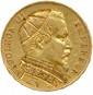 Monnaie satirique 20 Francs en or représentant Napoléon III en habits sacerdotaux. Très beau.